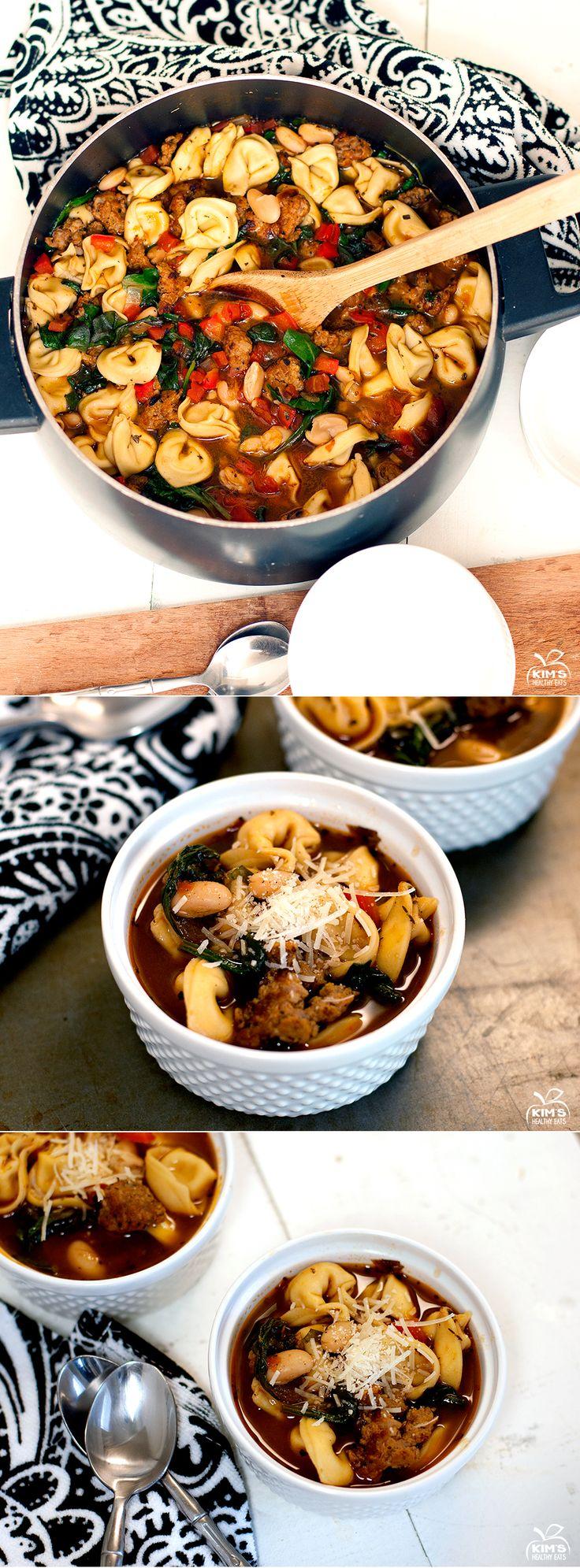 Italian Tortellini Sausage Soup   Soups   Pinterest