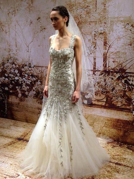 vine wedding dresses with amazing details