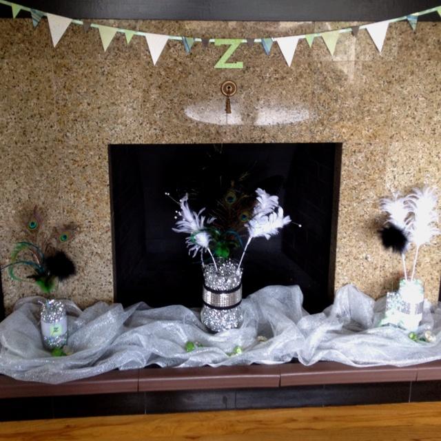 glam baby shower decorations susan 39 s baby shower idea pinterest