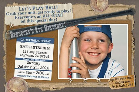 lets play ball invitations