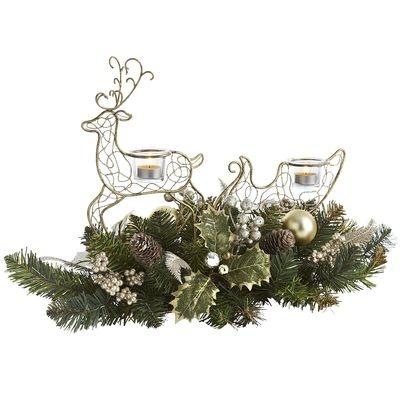 Reindeer Sleigh Centerpiece | Holiday ideas | Pinterest