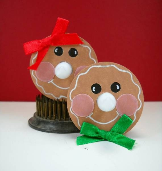 Gingerbread tea lights by paige cards and paper crafts at