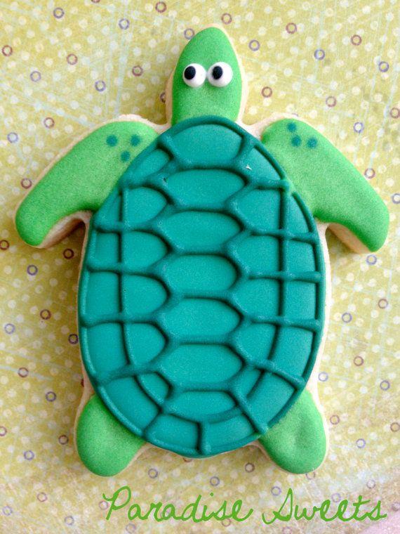 Sea Turtle Sugar Cookies 1 Dozen by ParadiseSweets on Etsy