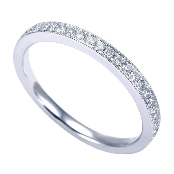 Genesis Designs WB7489W44JJ Wedding Ring 14K white gold victorian ...