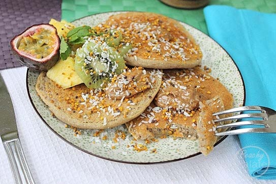 ... Butter Coconut Gluten Free and Vegan Pancakes with a Tropical Twist