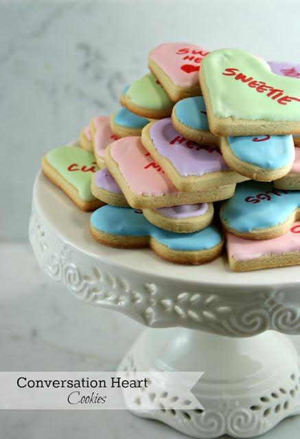 Conversation Heart Cookies | Cookies : Valentine's Day | Pinterest
