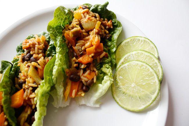 vegetarian lettuce wraps | the food | Pinterest