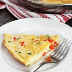 Caramelized Onion, Red Pepper, and Zucchini Frittata- a delicious and ...