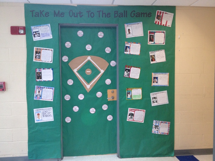 Teacher Classroom Decoration Games : Baseball classroom door sports theme pinterest