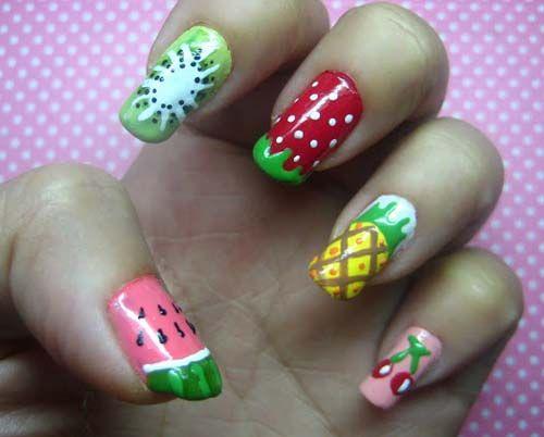 Best Watermelon Nail Art Designs   Nail art   Pinterest