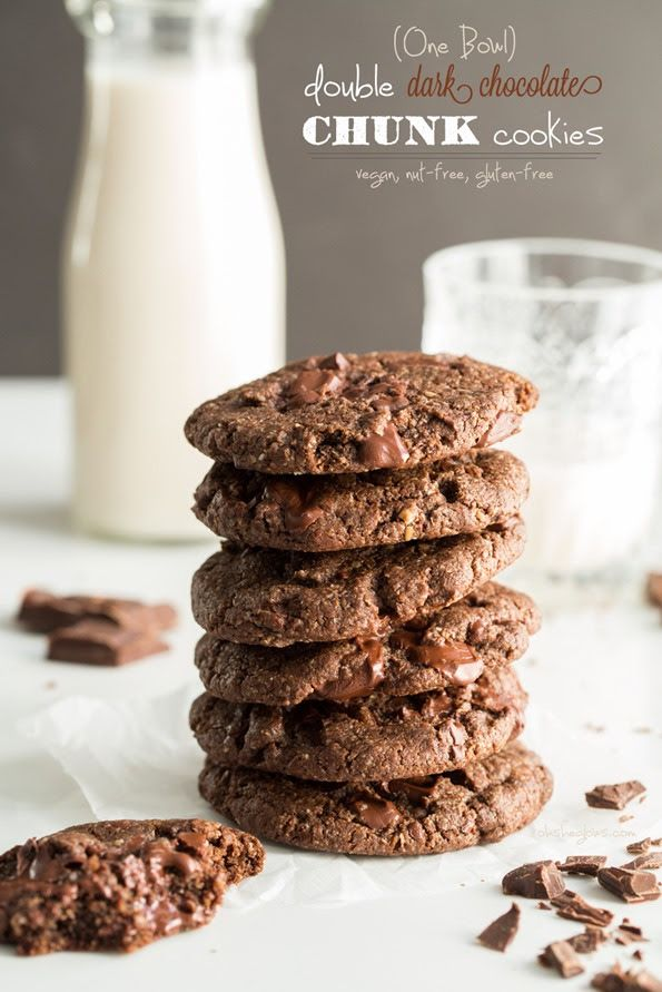 One Bowl Double Chocolate Chunk Cookies | Recipe