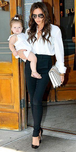 Baby Harper and Mommy Beckham
