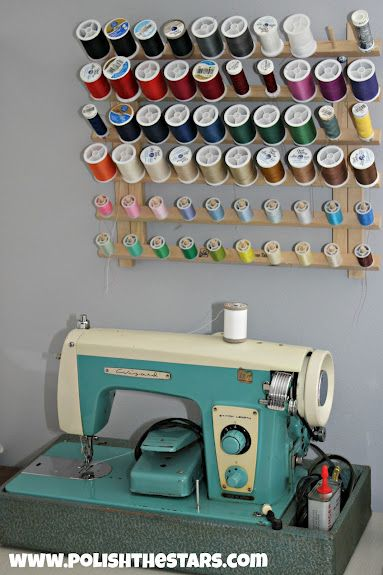 Thread and bobbin storage