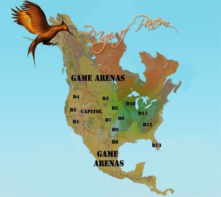 panem map by suzanne collins