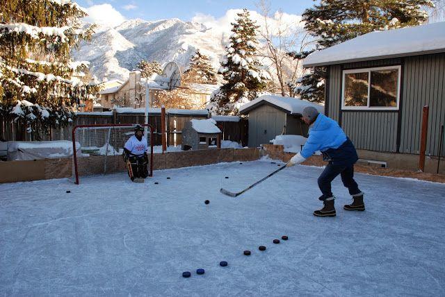 Backyard ice rink  Backyard Ideas  Pinterest