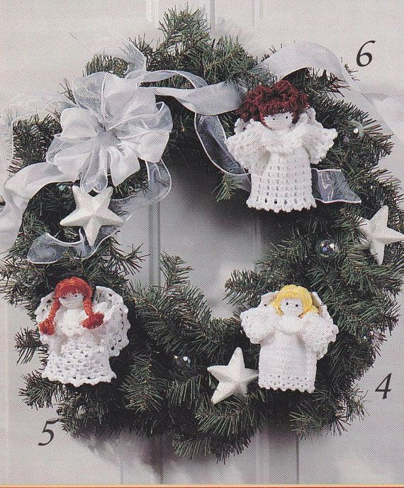 Angels Crochet Patterns - Christmas Tree Topper, Ornaments