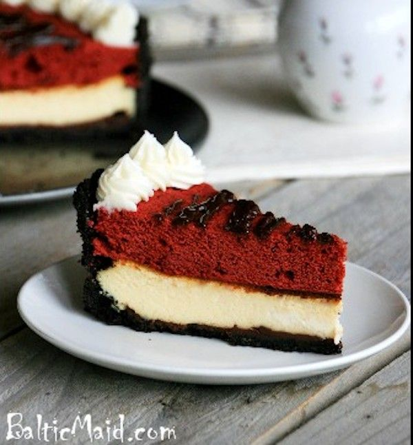 Red Velvet Cheesecake | Holiday Food | Pinterest