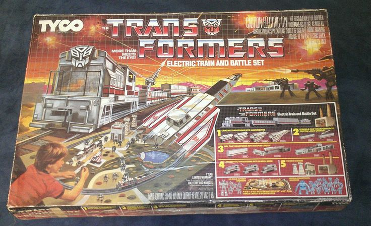 Hasbro Train Set : G tyco transformers electric train and battle set
