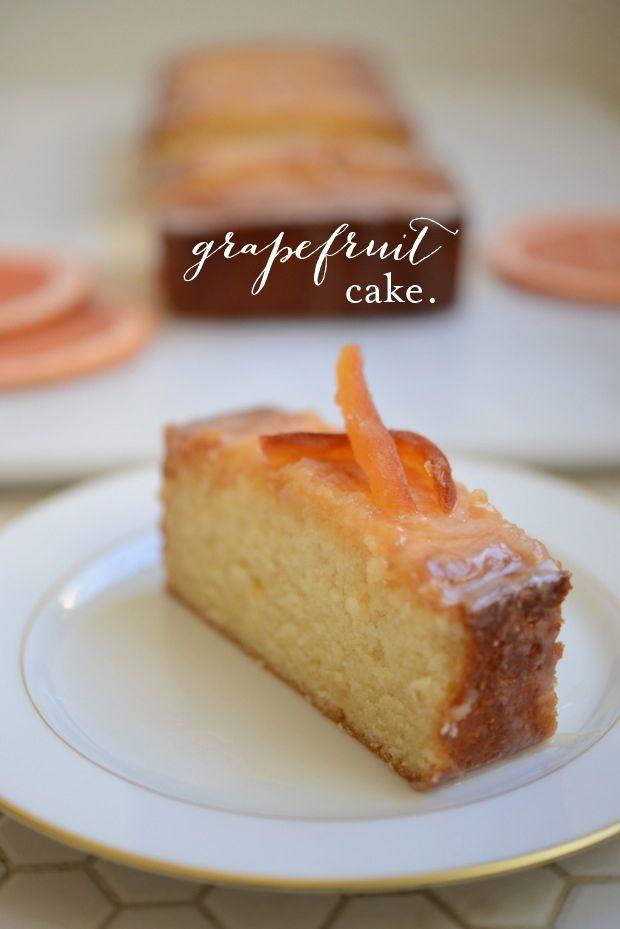 Grapefruit cake. http://www.traceysculinaryadventures.com/2012/03 ...