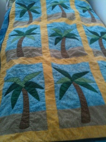 Palm Tree Quilt quilts Pinterest