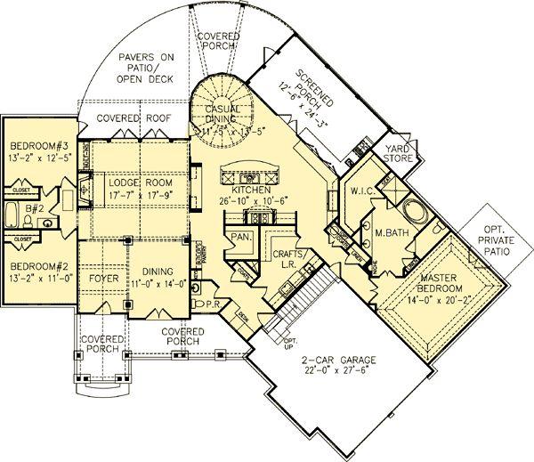 Popular Craftsman Home Plan