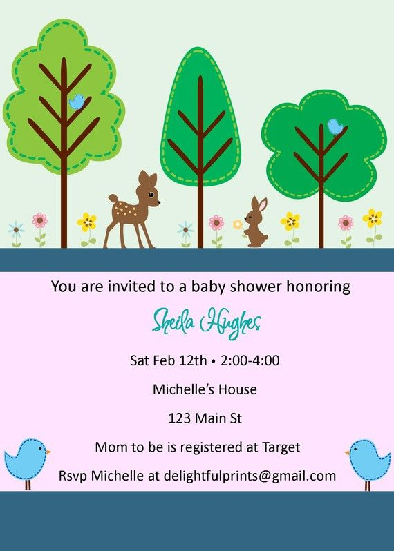 woodland animals forest baby shower or by delightfulprints baby