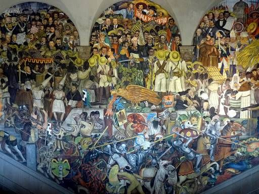Pin by tallulah on pinturas pinterest for Diego rivera mural 1929