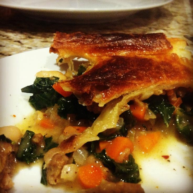 Pancetta, white bean and kale pot pie. | Nourish | Pinterest