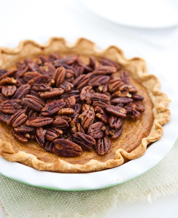 Sweet Potato Pie with Maple Candied Pecans | Recipe