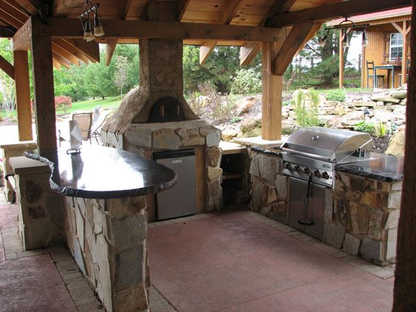 Outdoor Kitchen With Pizza Oven Anitas Outdoor Pinterest