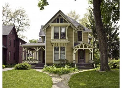 Stick style victorian in indiana home hearth garden for Victorian stick style house plans