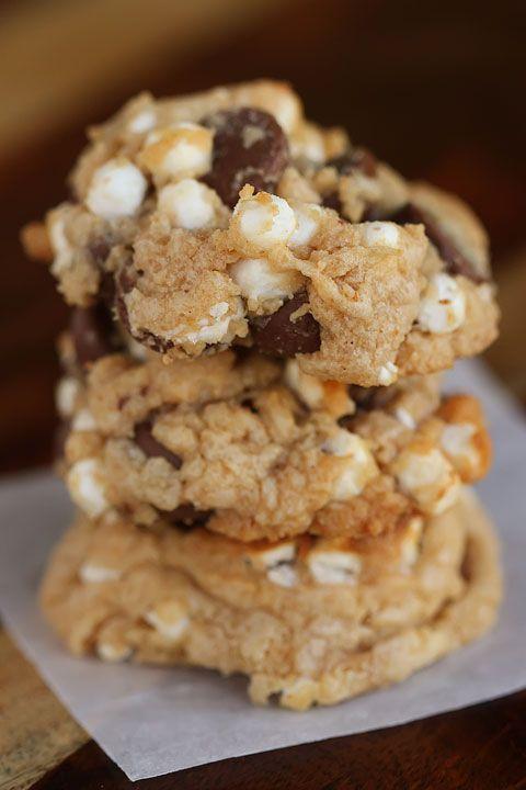 Gooey Smores Cookies