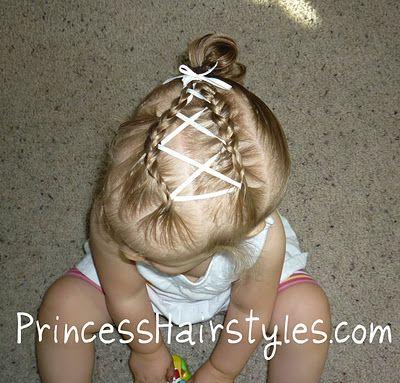 ribbon criss cross hairstyle