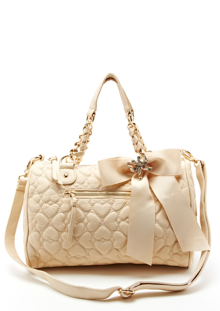 BETSEY JOHNSON  Quilted Love Satchel  $59.99