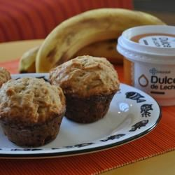 Muffins de banana y dulce de leche @ allrecipes.com.ar