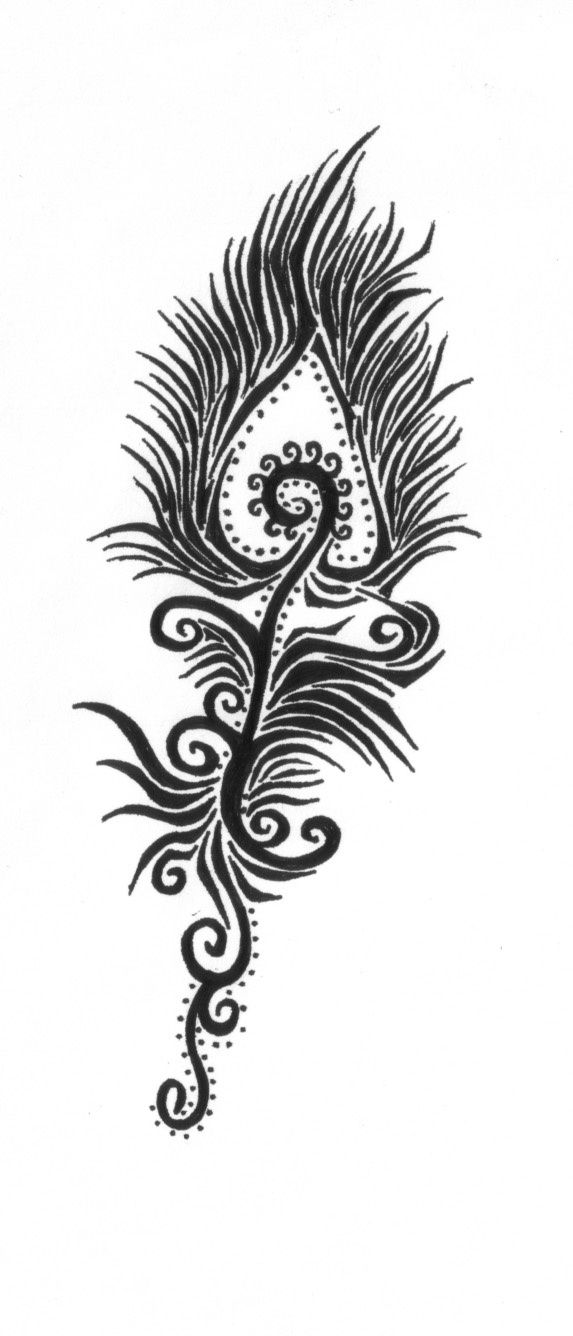 Mehndi Peacock Feather : Peacock feather henna design beauty pinterest