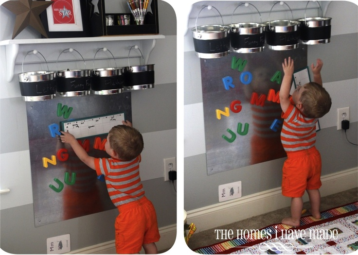Magnetic Board For Kids Room : The Homes I Have Made: Magnetic Learning Station (Playroom Update ...