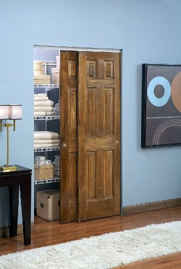 Wood bypass doors - Closet door options for small spaces ideas ...