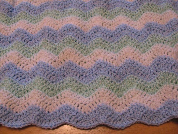 Knitting Pattern For Rippling Waves Afghan : baby ripple afghan Crochet Pinterest