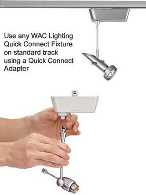 track systems using a wac lighting quick connect track adapter. Black Bedroom Furniture Sets. Home Design Ideas