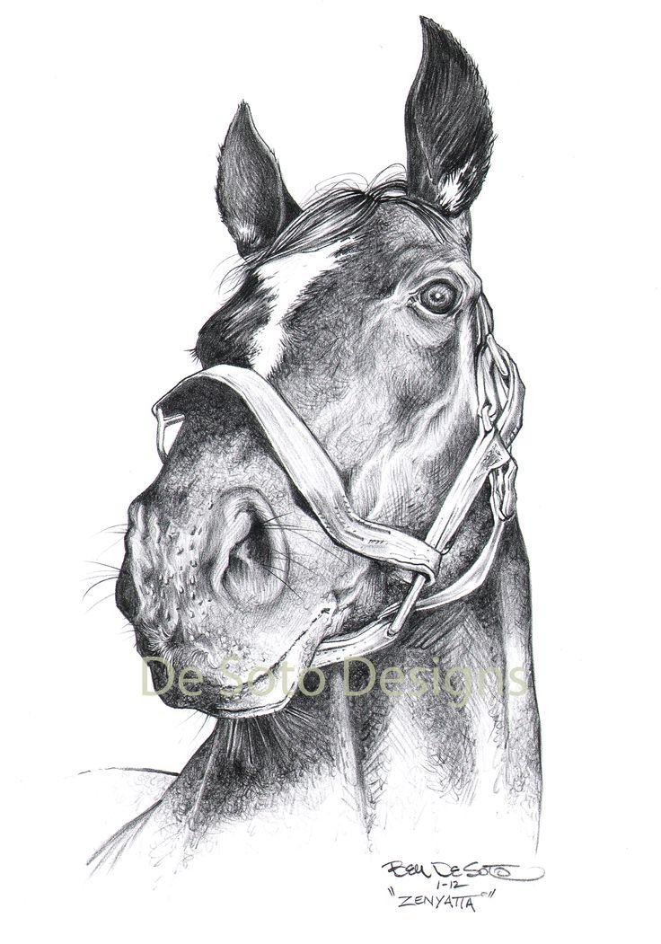horse racing drawing