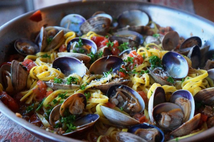 Linguine with Clams and Chorizo | Pasta | Pinterest