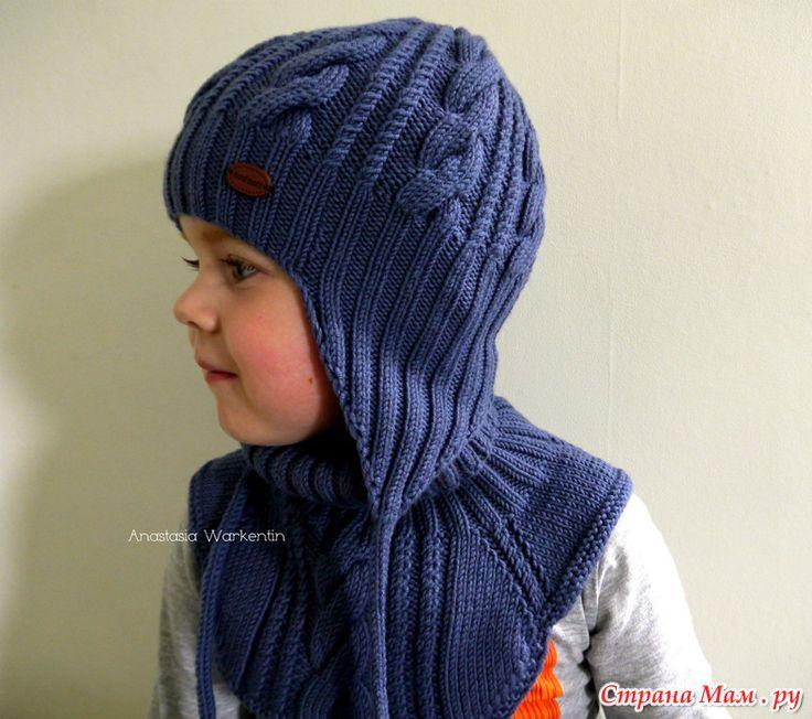 Вязание спицами шапка для мальчика 4 лет 1
