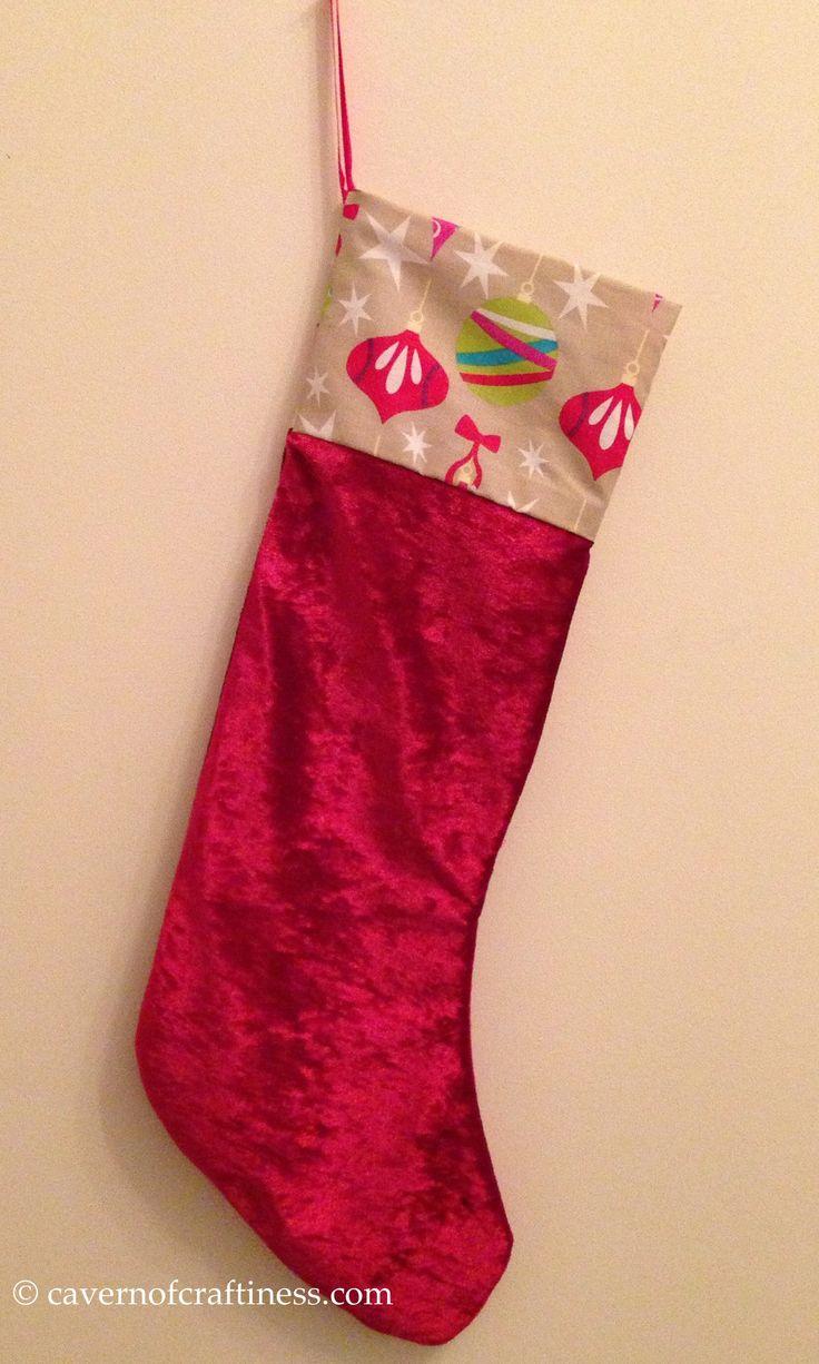 Christmas stocking pattern printable