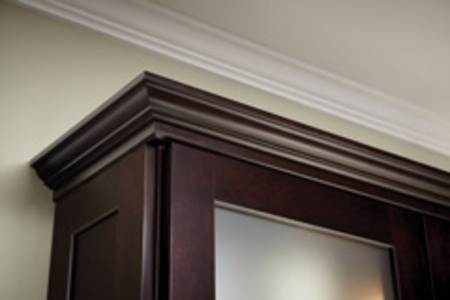 Crown molding above kitchen cabinets for the home Crown molding india