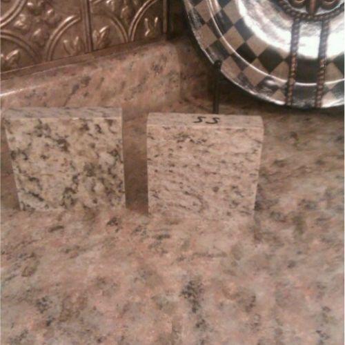 Faux Painted Granite Countertop Kitchens Pinterest