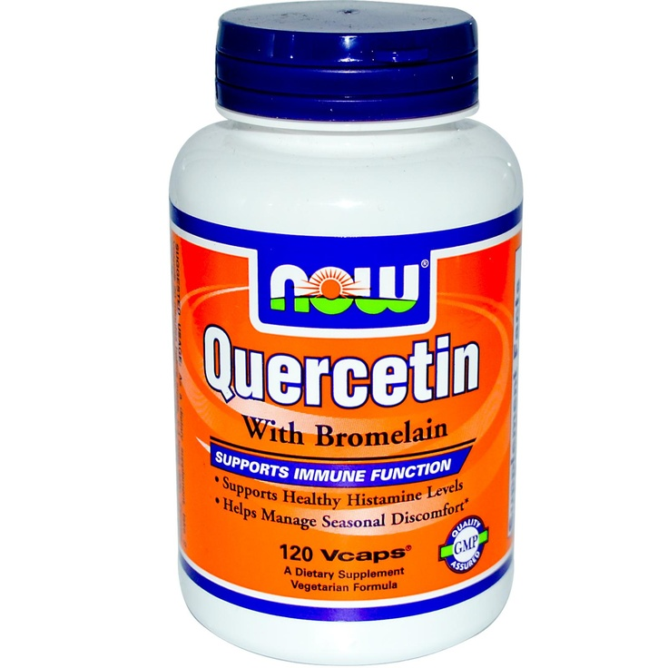 Quercetin - helps balance histamine levels (especially useful for allergy sufferers). I use it and find it actually does help!