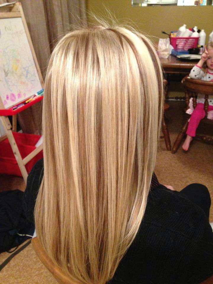 Blonde With Lowlights | Dark Brown Hairs