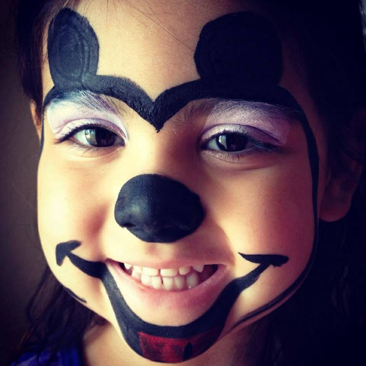 Mickey Mouse Face Painting Pinterest