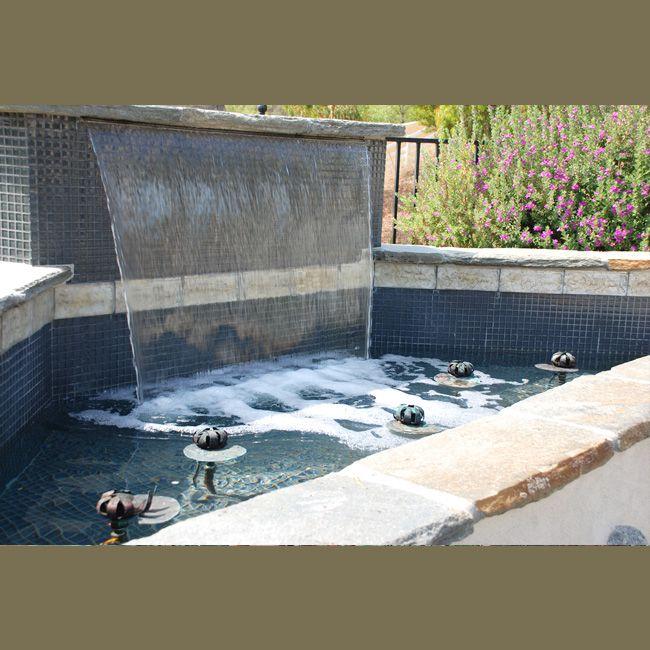 Modern waterfall ponds waterfalls features pinterest for Modern pond waterfall